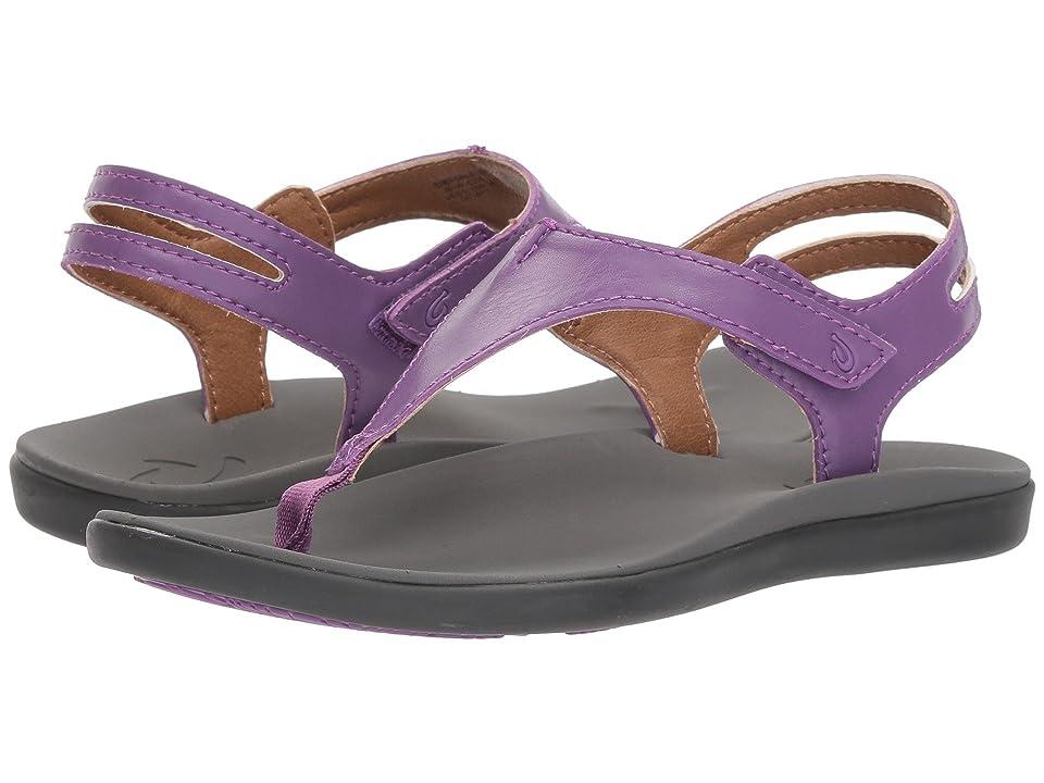 OluKai Kids Eheu (Toddler/Little Kid/Big Kid) (Crushed Grape/Charcoal) Girls Shoes