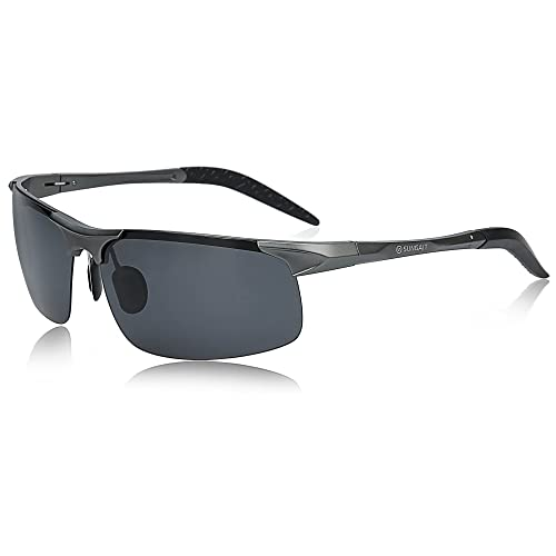 c0b14b4d797 SUNGAIT Men s Polarized Sunglasses for Driving Fishing Golf Metal Frame  UV400