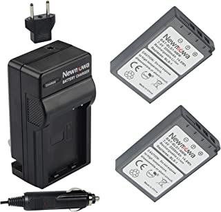 Newmowa BLS-1 Replacement Battery (2-Pack) and Charger kit for Olympus PS-BLS1, BLS-1 Batteries and Olympus Pen E-PL1, E-PM1, EP3, EPL3, Evolt E-420, E-620, E-450, E-400, E-410 Digital SLR Cameras