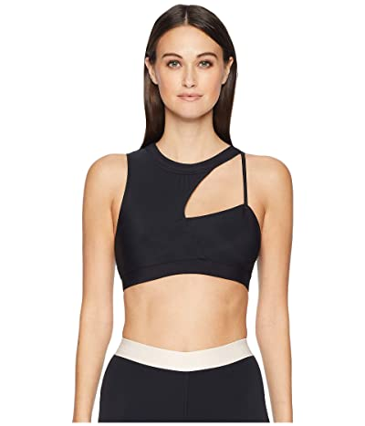 Cushnie Sports Bra with Curved Panel (Black) Women