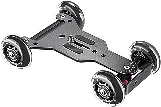Neewer カメラテーブルドリースライダー(黒) 騒音なし 耐荷重22ポンド/10キロ スケーターのデザイン アルミボード、回転可能なTPUホイール、1/4インチネジ付き DSLRビデオカメラ用