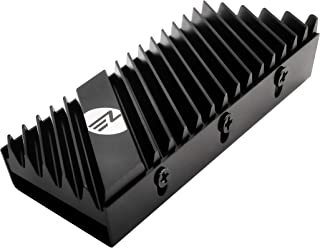 EZDIY-FAB - Disipador SSD M.2 2280, disipador de calor de doble cara, enfriador SSD de alto rendimiento para SSD PCIE NVME M.2 o SSD SATA M.2 - Negro