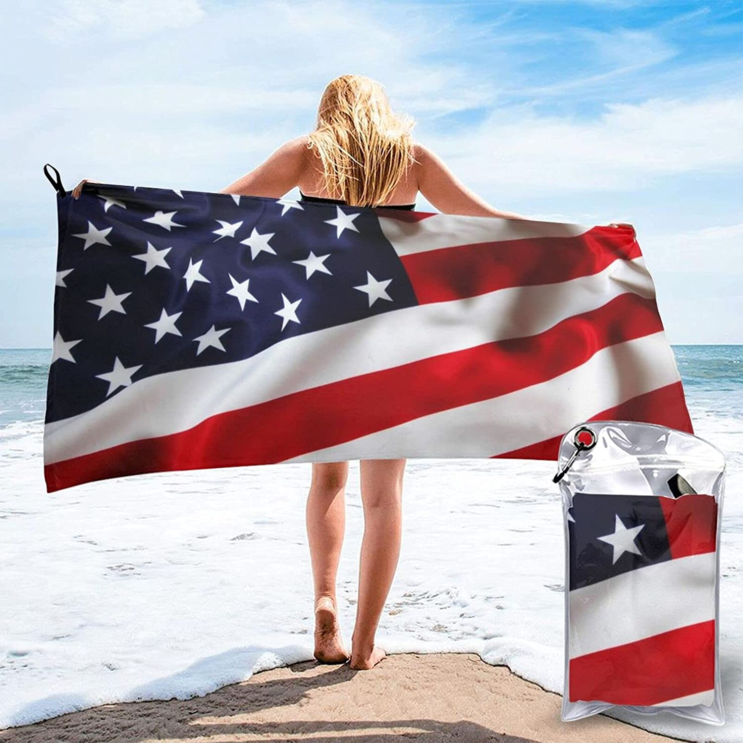 Some reservation Mescchsk American Flag Print Quick Dry Pack Size 5527.5 Towel Ranking TOP5 2