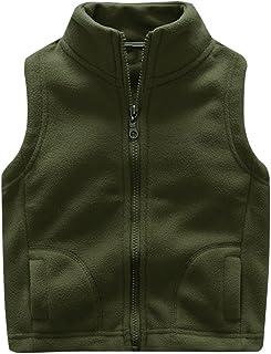 Aivtalk Little Boys' Fleece Warmth Sleeveless Vests Outfit Zipper Pocket 2-9T