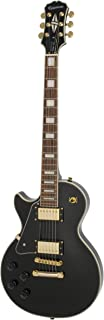 Epiphone Les Paul Custom Pro Left Hand Electric Guitar with ProBuckers and Coil Tapping, Ebony