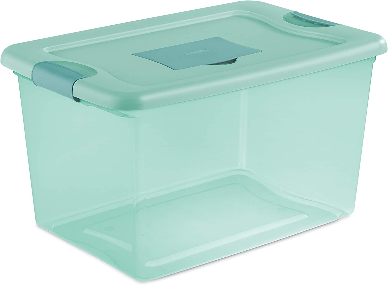 Sterilite 15077Y06 64 Quart Max 43% OFF Fresh Ranking TOP4 Aqua Scent Box