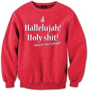 Hallelujah Holy Shit Mens Sweatshirt X-Large Red