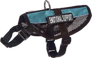 "Dogline N0251-23-0210 Service Dog Vest Harness, Medium/17"" x 21"", Turquoise"