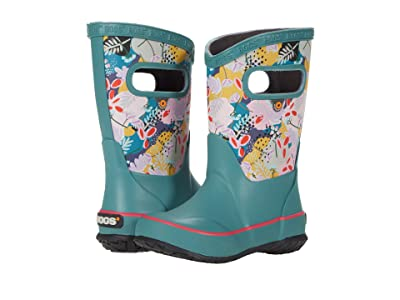 Bogs Kids Rain Boots Deco Floral (Toddler/Little Kid/Big Kid) (Green Multi) Kids Shoes