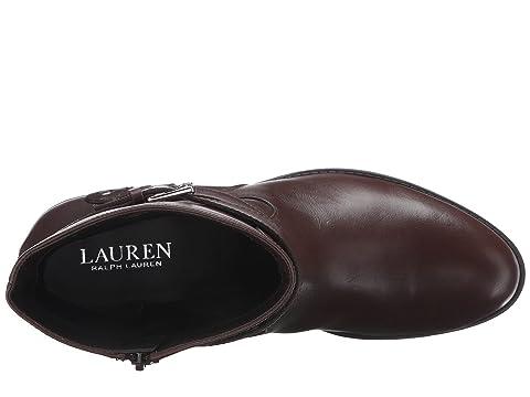 LAUREN Ralph Lauren Makalia Dark Brown Burn Calf/Sport Suede