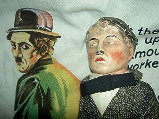 海外 RARE antique composition, Charlie Chaplin, c1915 labeled portrait char doll