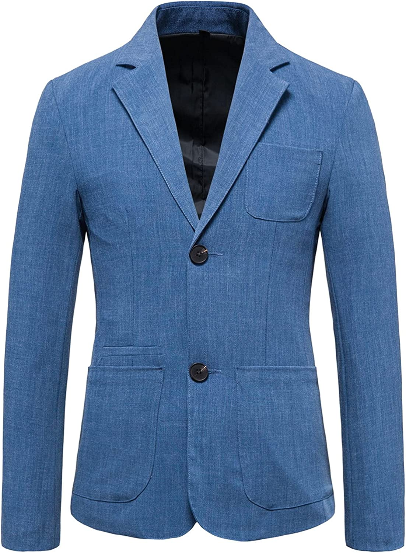 FORUU Casual Blazers For Men 2021,Winter Suit Jacket Elegant Solid Single Braested Blazers Lapel Collar Pocket Suit Coat