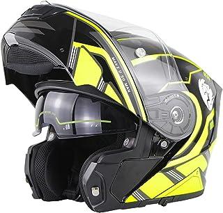 Cascos Modulares De Moto Mujer Hombre DOT ECE Homologado Cascos Abiertos De Moto Con Doble Visera Lente Grande Cascos Inte...
