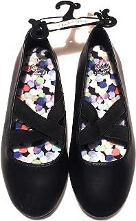 Girls Black Ballet Casual Dress Shoe Flat Slip On