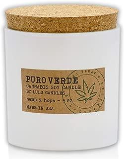 Lulu Candles | Puro Verde - Cannabis Scented Candles | Hemp & Hops | 9 Oz.