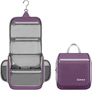 Gonex Hanging Toiletry Bag, Travel Organizer Bag for Makeup and Toiletries, Men and Women - Purple