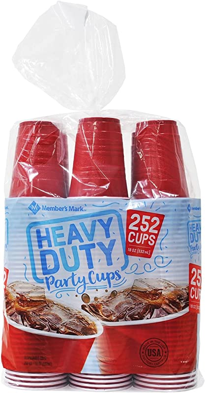Member S Mark Red Plastic Cups 18oz 252ct