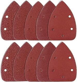 Coceca 120pcs Mouse Detail Sander Sandpaper Sanding Paper Each 20pcs of 40 80 120 180 240 Grits Mouse Sandpaper