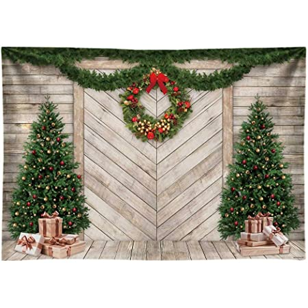 10x6.5ft Christmas Decoration Tree Backdrop Gifts Fireplace Garland Curtain Shining Lights Curtain OOD Floor Interior Xmas Photography Backgrounds Children Adults Photo Backdrop Studio