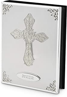 Things Remembered Personalized Cross Album, Religious Cross Photo Album with Engraving Included