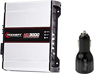 $249 » Taramp's HD 3000 1 Ohm Class D Full Range Mono Car Audio Amplifier | Excellent for Voice As Well As Bass Bundled with Hogo...