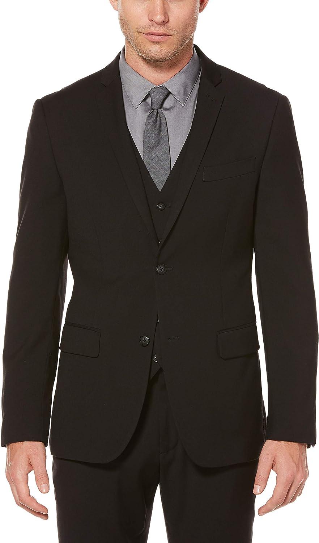 Perry Ellis Men's Regular discount Slim Fit Solid Jacket 44 Large Suit Washington Mall Black X