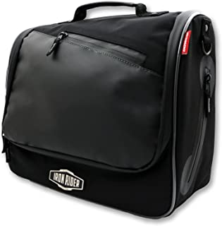Dowco Iron Rider 05150 Water Resistant Reflective Urban Commuter Mountable Messenger Bag: Black, 16 Liter Capacity