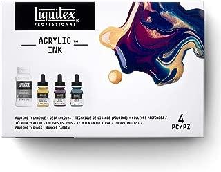 Liquitex Pouring Medium Technique Set, with Acrylic Ink Deep Colors