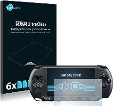savvies Protector Pantalla Compatible con Sony PSP Street E1004 (6 Unidades) Pelicula Ultra Transparente