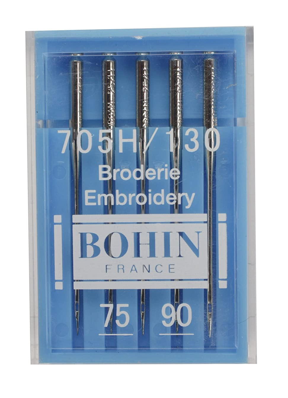 Bohin Embroidery Machine Needle Assorted Sizes 11/75 & 14/90 (10 Pack)