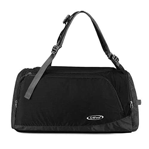 G4Free Lightweight Sports Bag Gym Bag Travel Duffel Backpack Weekend Bag  with Shoe Compartment 7bd32955ae77d