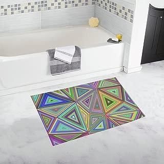 Concentric Tiled Mosaic Tile Custom Non-slip Bath Mat Rug Bath Doormat Floor Rug For Bathroom 20 X 32 Inch