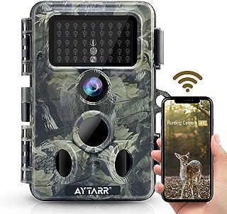 4K 30MP WiFi Wildlife Camera, Bluetooth 940nm No Glow Night Vision Aytarr Hunting Game Camera 3 PIR 120° Wide Motion Activ...