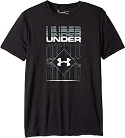 Under Armour Boys Rippled Duo Logo Tee Short-Sleeve Shirt