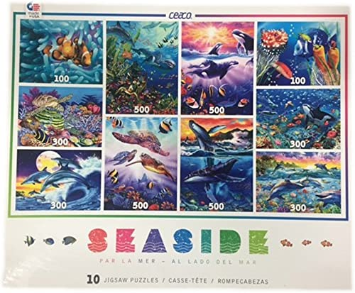 Ceaco 10-in-1 Multi-Pack Seaside Jigsaw Puzzle by Ceaco