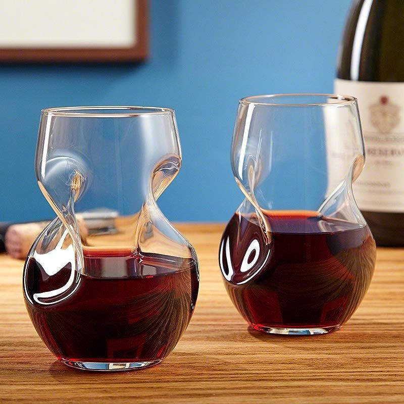 Tourbillon Aerating Stemless 8 Oz Wine Tumbler Set Set Of 2