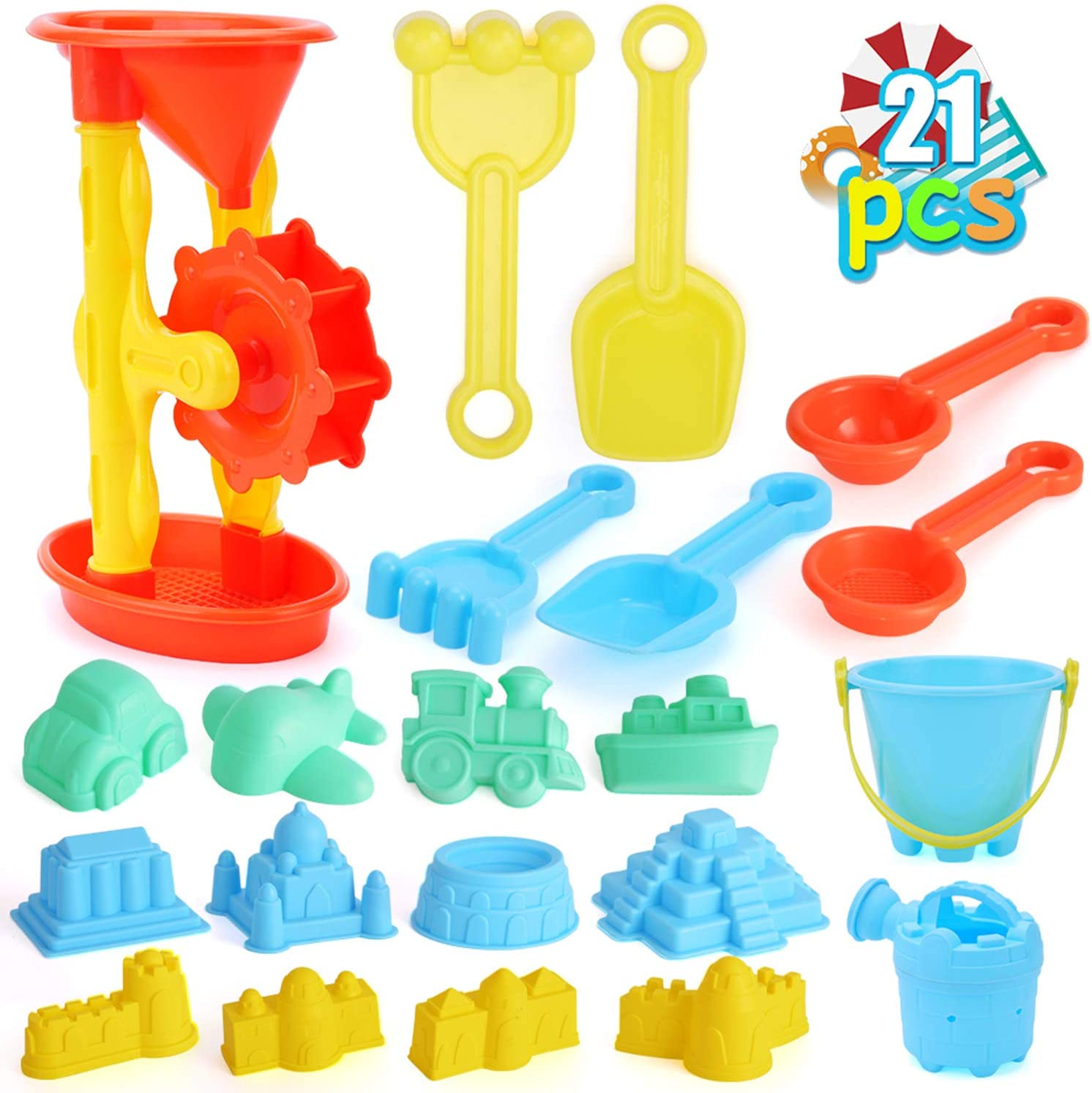 Qutasivary 22pcs Beach Sand Al sold out. Toys Set with Assembled San Very popular for Kids