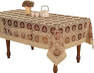 Simhomsen Vintage Burgundy Lace Tablecloth Embroidered Rectangle 54 × 72 Inch