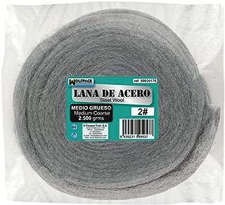 Wolfpack 9020170 Lana de Acero, 2500 Gramos, Lisa 0