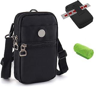 Bolsa Compacta de Hombro Cintura Cintur/ón Bolsillo Funda Ri/ñoneras Bolso Peque/ño para Herramientas Peque/ñas Bandolera Hombre Deporte Camping Viaje Senderismo Cartera Aire para iPhone Samsung Xiaomi