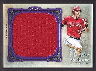 2013 Topps Five Star Baseball Jumbo Jersey Purple #FSJJR-JH Josh Hamilton 09/20 Anaheim Angels