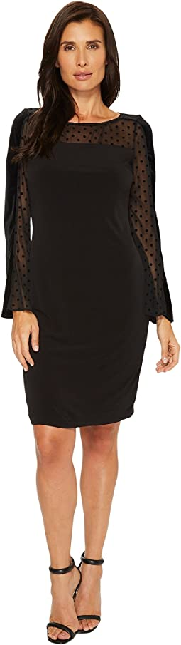 Ivanka Trump - Matte Jersey Long Sleeve Dot Dress