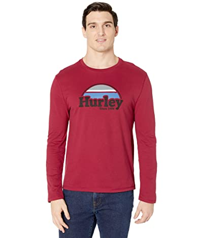 Hurley Rise Jam Long Sleeve Graphic T-Shirt (Rhubarb) Men
