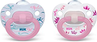 NUK Orthodontic Pacifiers, Girl, 18-36 Months, 2-Pack