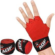 AQF Boxing Hand Wraps 4 Meter Elasticated Bandages - Voor Vechtsporten, Boksen, MMA & Cross Fitness