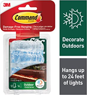 Command Outdoor Rope Light Clips, Clear (17301CLRAW-ES)