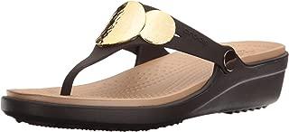 Crocs Womens Sanrah Embellished Wedge Flip