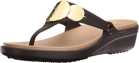 Crocs Women's Sanrah Embellished Flip Wedge