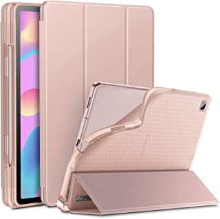 INFILAND Galaxy Tab S6 Lite Case with S Pen Holder, Tri-Fold Case with Frosted Translucent Back Fit Samsung Galaxy Tab S6 ...