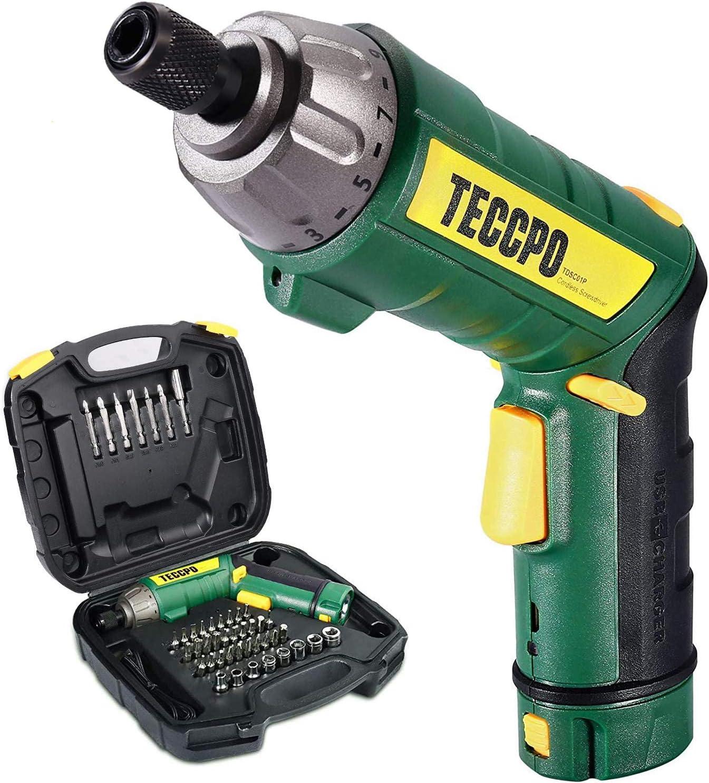 Teccpo 2000mAh Cordless Electric Screwdriver Kit $17.99 Coupon